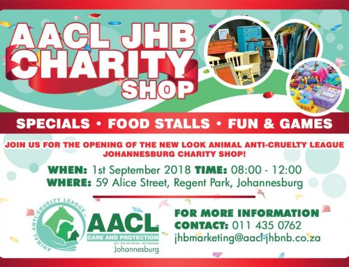 Join us for the opening of the New AACL JHB Charity shop