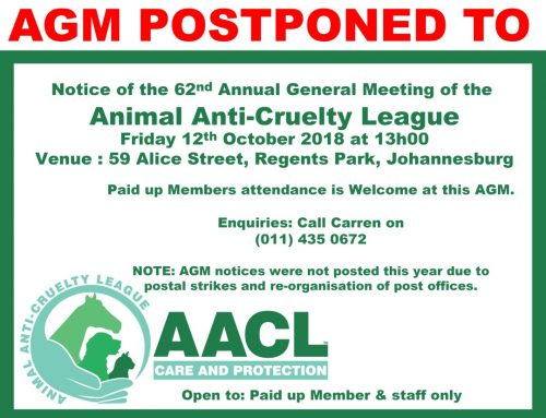 Postponement of the AGM 2018